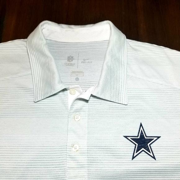 Dallas Cowboys NFL Nike Dry-Fit Polo Shirt Large 1fed381fa